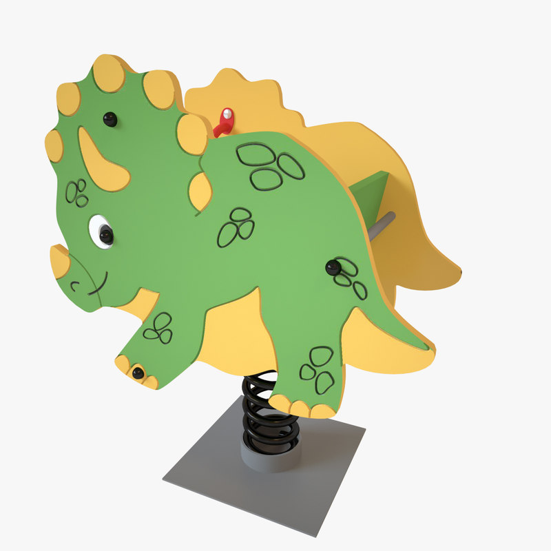 playground spring dinosaur 3D model