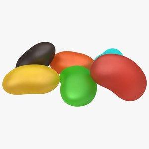 3D model jelly bean