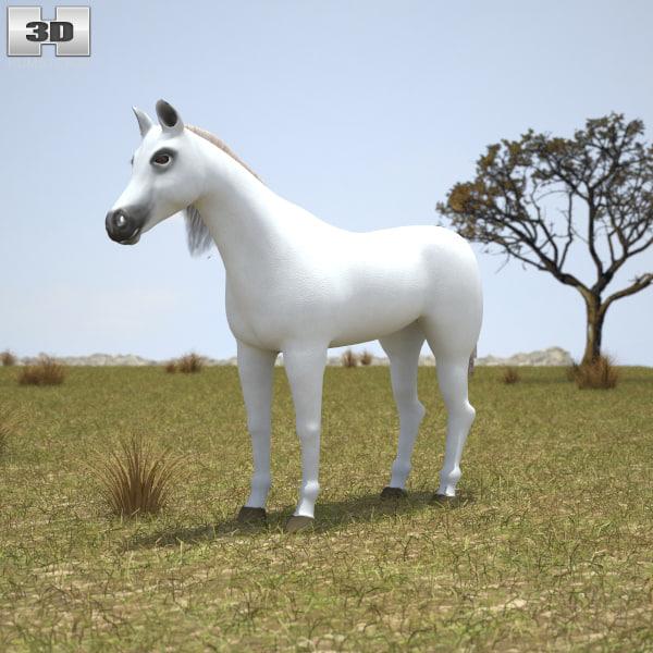 3D model arabian arab horse