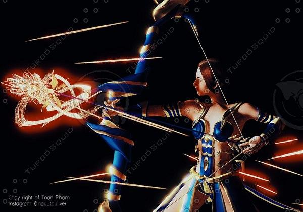 3D character : god justice