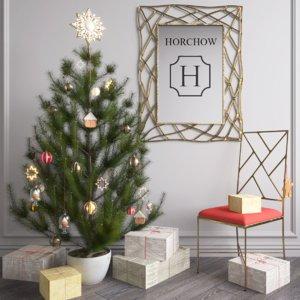 horchow christmas set decor model