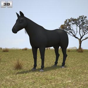 3D rocky mountain horse model