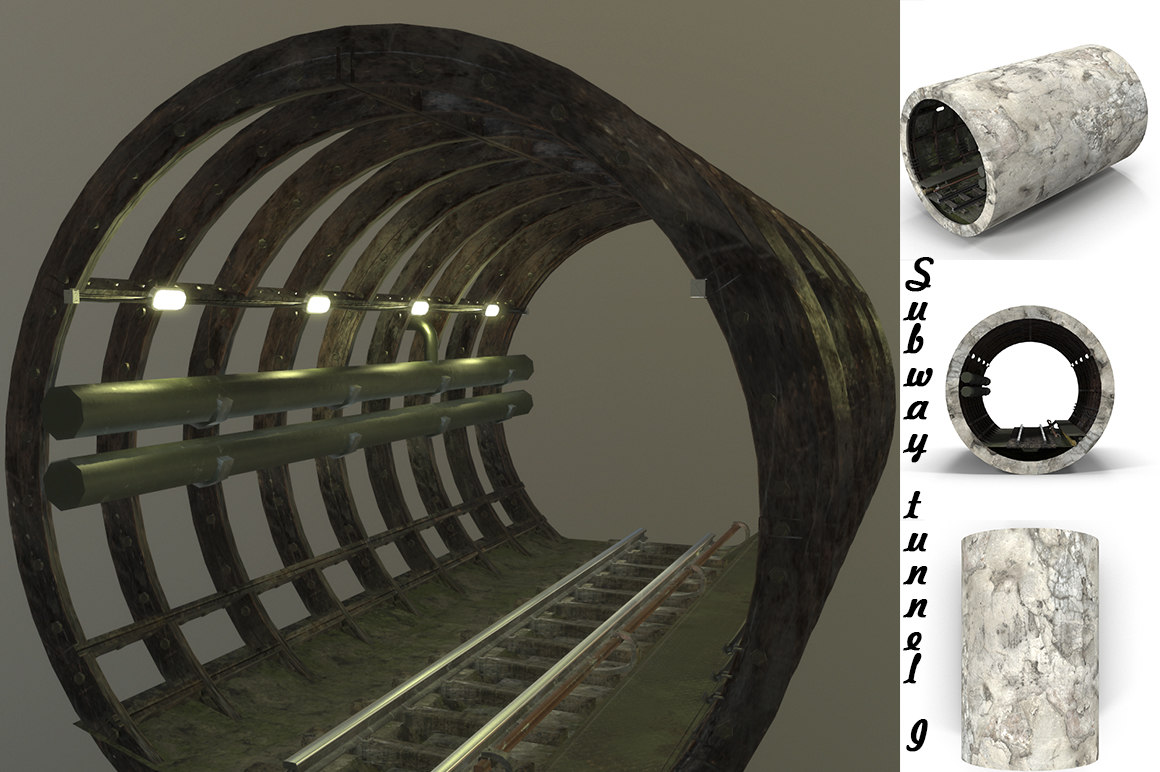 3D subway tunnel