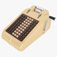 retro adding machine 3D