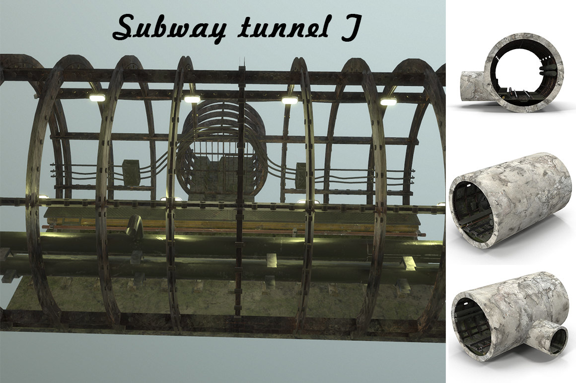 subway tunnel 3D model
