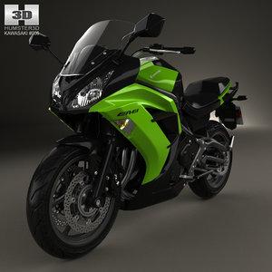 3D kawasaki ninja 650r model