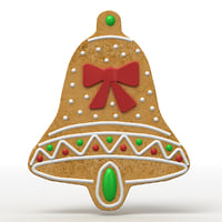 gingerbread cookie 3D model