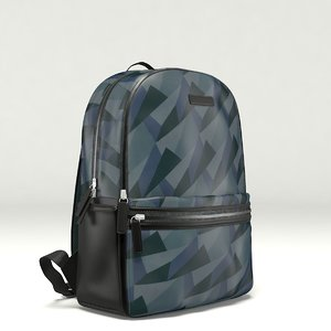 photorealistic backpack 3D model