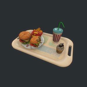3D burger pbr model