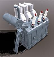 power transformer dneproges 2 3D model