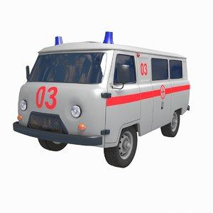 3D uaz 452