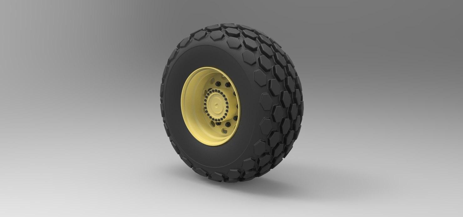 wheel roller compactor 3D model