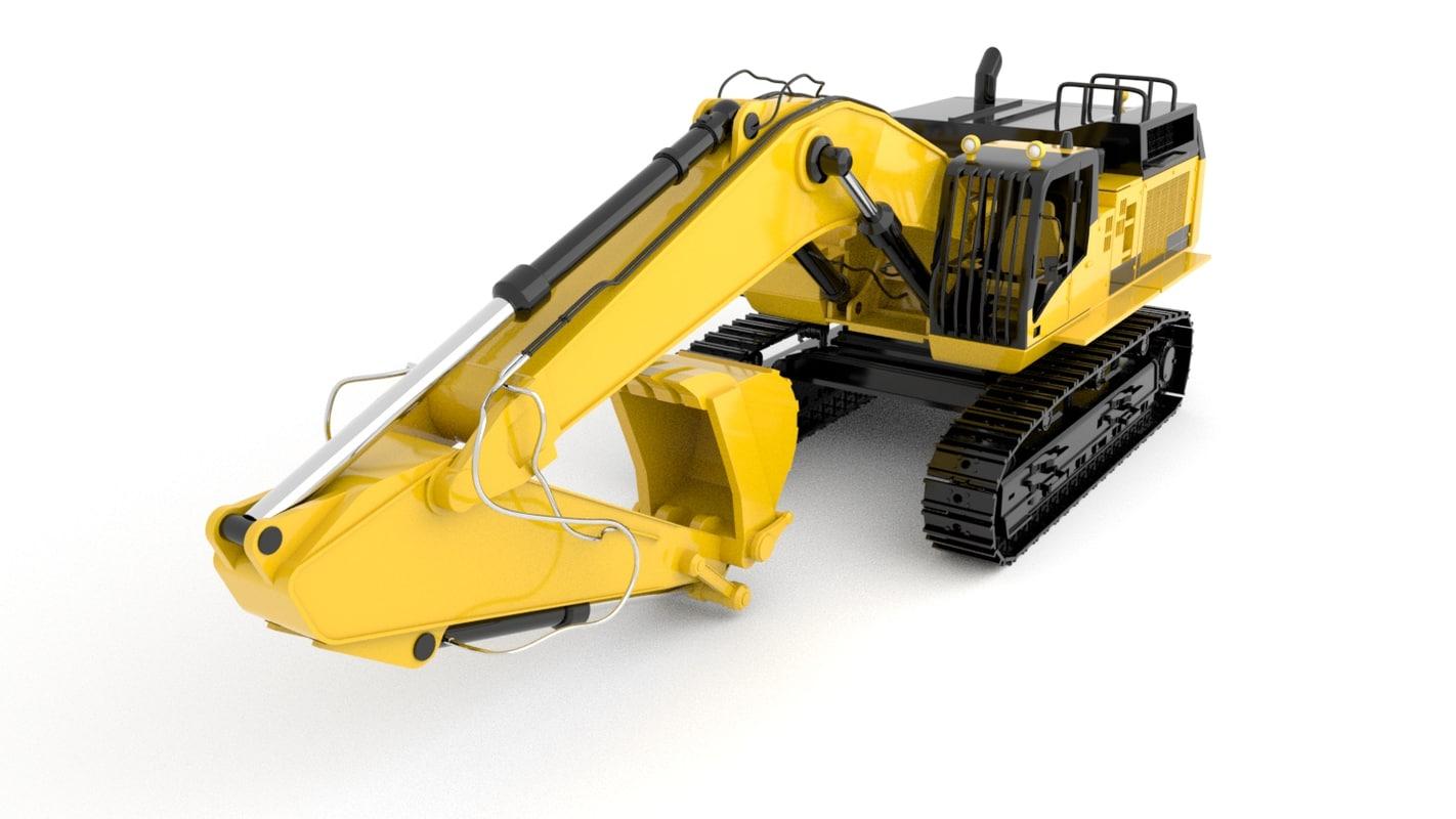 standard excavator 3D model