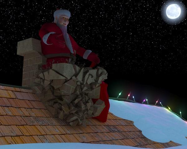 3D incident santa claus model