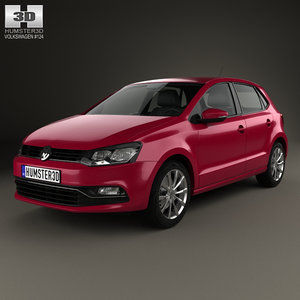 volkswagen polo 2014 3D model