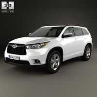 3D toyota highlander hq model