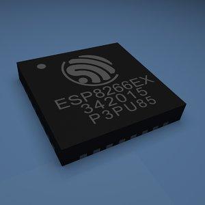 3D model esp8266ex