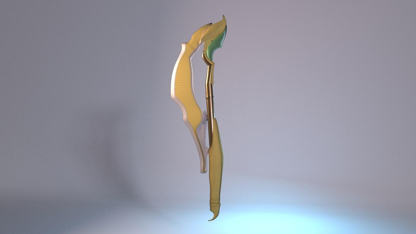 3D scifi weapon model