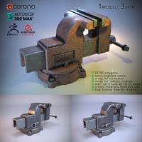 vise 3 skins 3D model