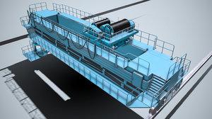 overhead bridge crane dneproges 3D model