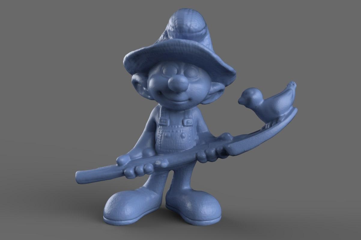 Farmer Smurf Toy