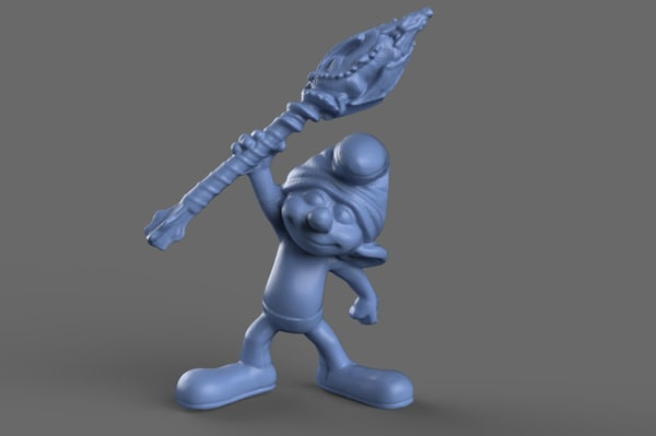 3D clumsy smurf toy model