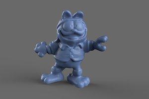 3D model garfield toy