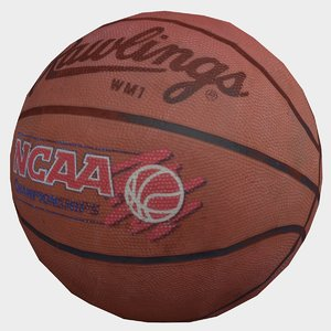 3D old basketball model