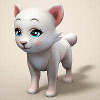 cat cartoon toon 3D model