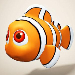 3D model clown fish