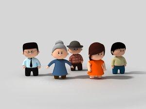 3D family little