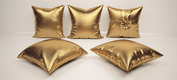 16 throw pillow set 3D model