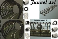 Subway tunnel set