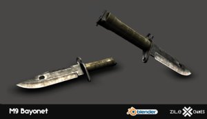 3D m9 bayonet model