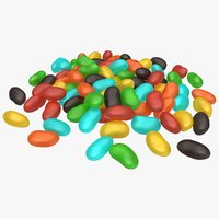 3D jelly bean pile