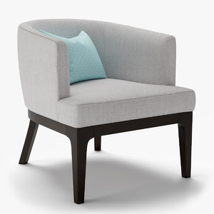 armchair oliver chair 3D model