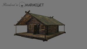 wooden house 3D