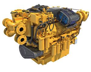 3D model marine propulsion engine