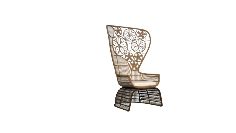 artdeco modern chair 3D
