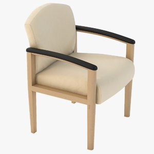 3D realistic photoreal seating model