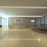 3D office modern