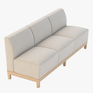 3D realistic photoreal sofa