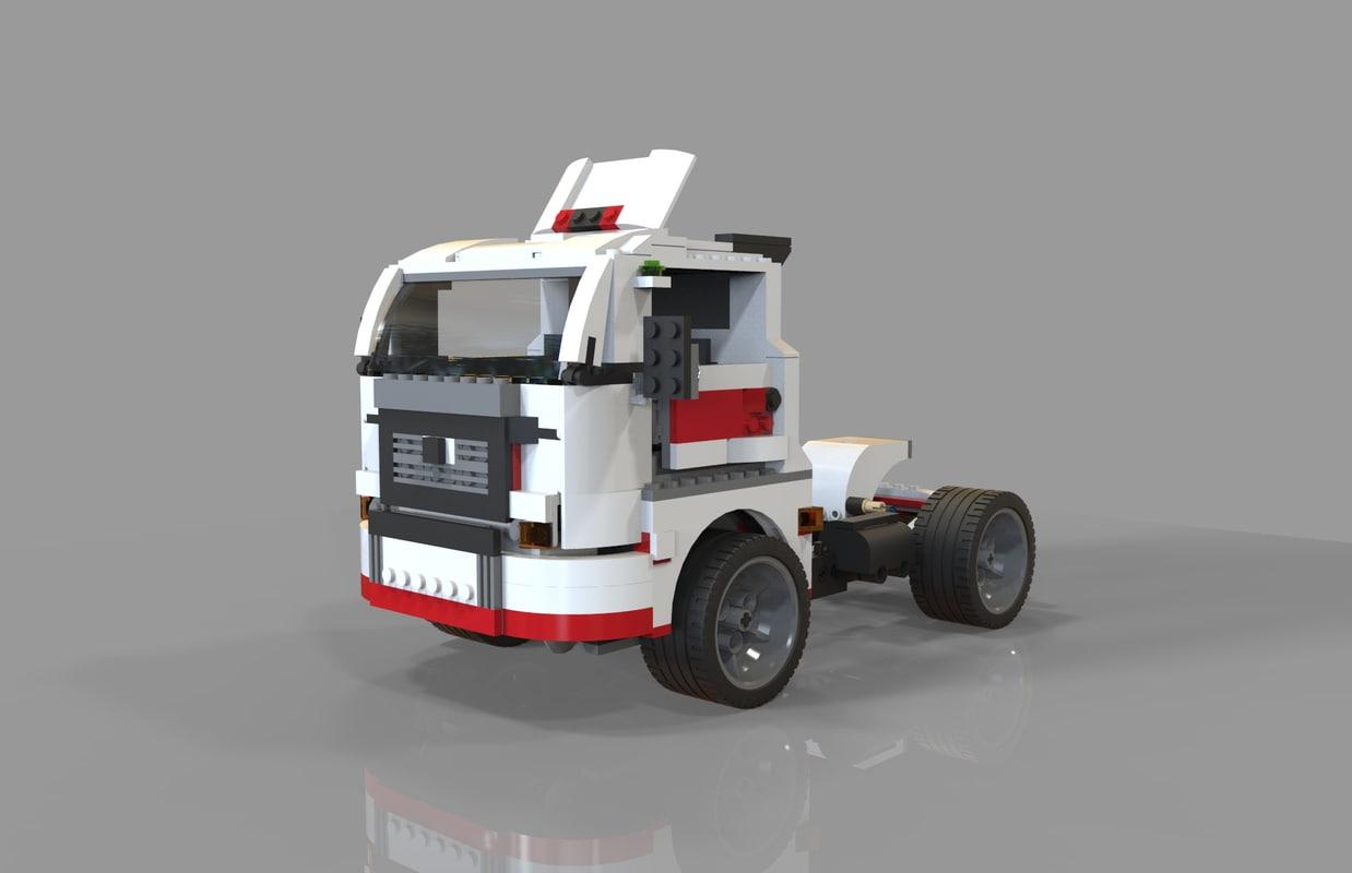 lego truck 3D