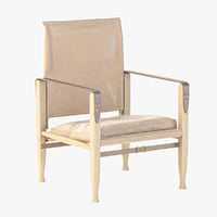 Natural Canvas Photorealistic KK47000 Safari Chair by Kaare Klint