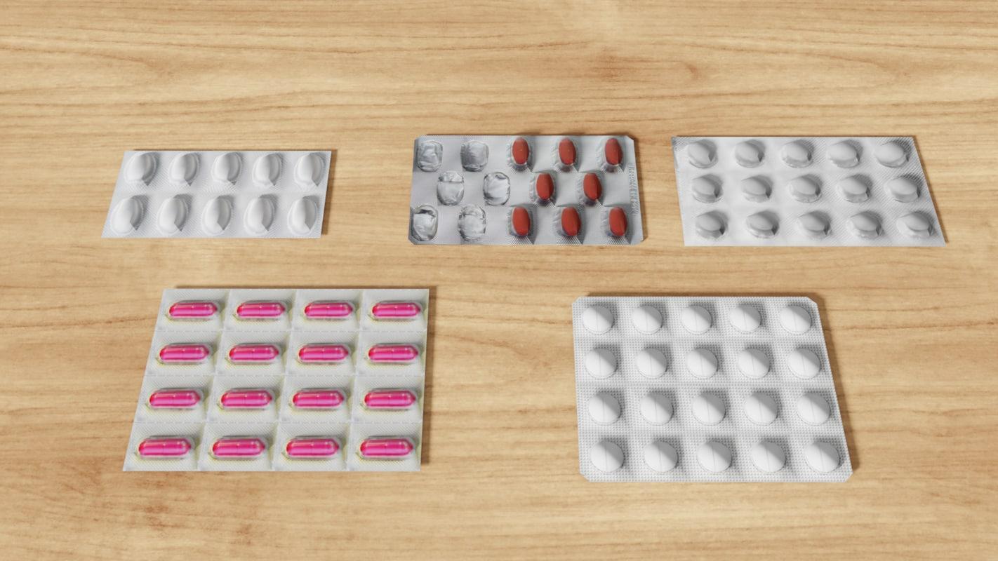 pill blisters 3D