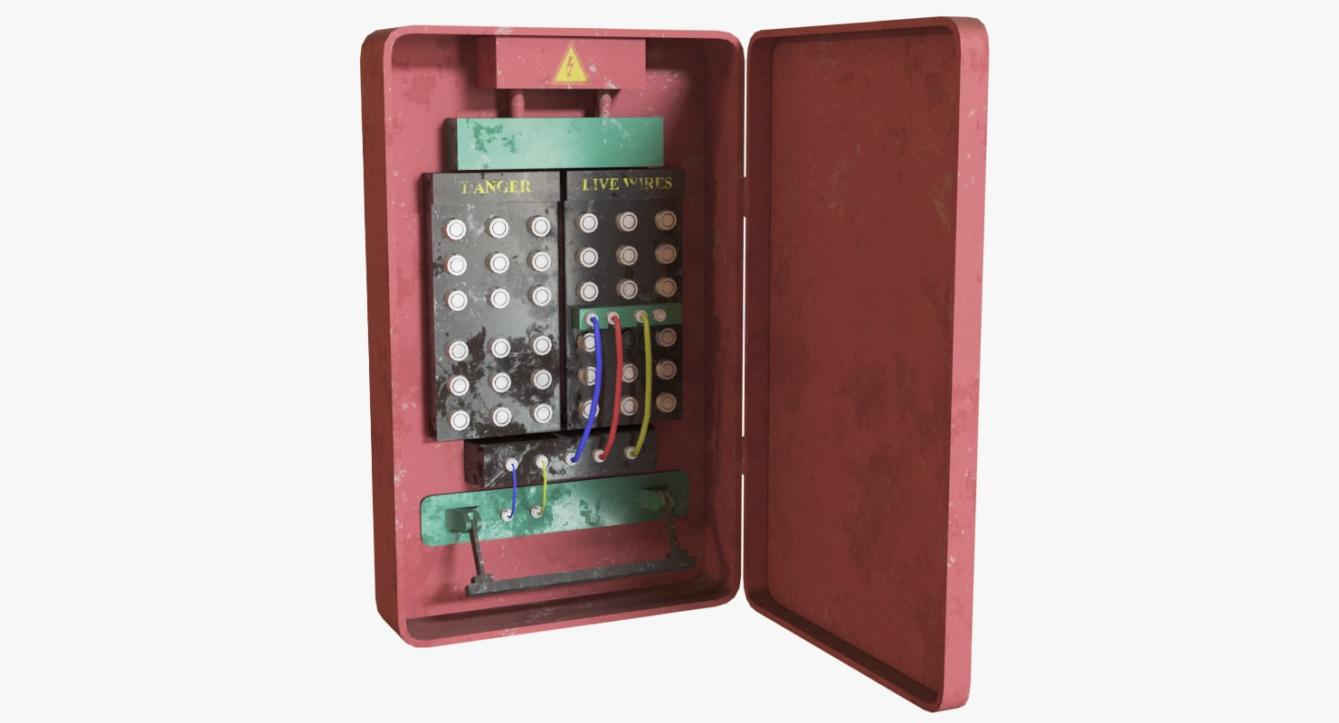 Telephone Fuse Boxes Wire Center Constant Current Source Circuit Using Bg602 Free Electronic Circuits Box 3d Model Turbosquid 1236794 Rh Com Old Style Electric