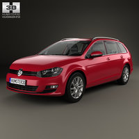 3D volkswagen golf hq model
