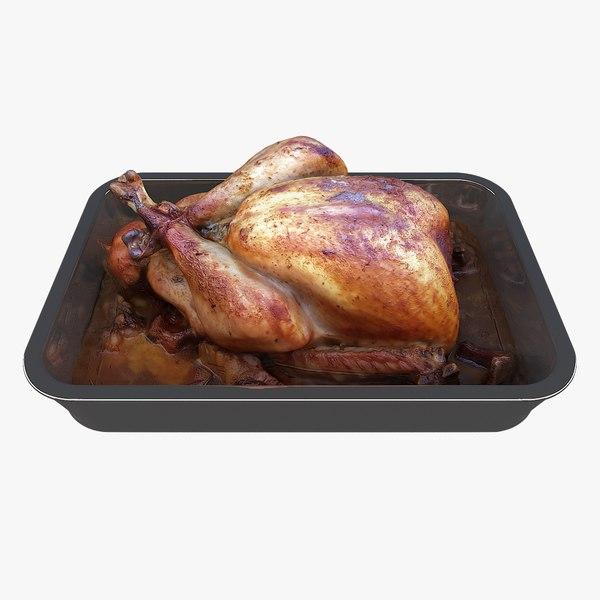 3D scan filled turkey