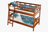 3D bunk bed pales model