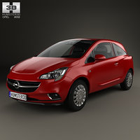 Opel Corsa (E) 3-door with HQ interior 2014